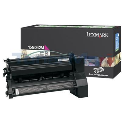 LEXMARK C752 PRINT CARTRIDGE MAGENTA RP 15K